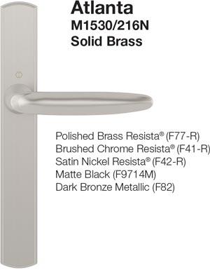 multipoint locking bi-fold door handleset styles