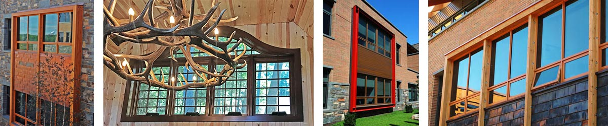 Views of installed awning windows
