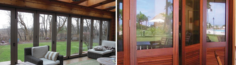 wood bi-fold windows doors