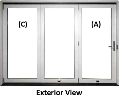 explanation of bifold door function and operation