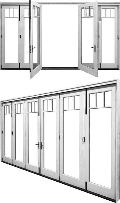view of a bi-fold door