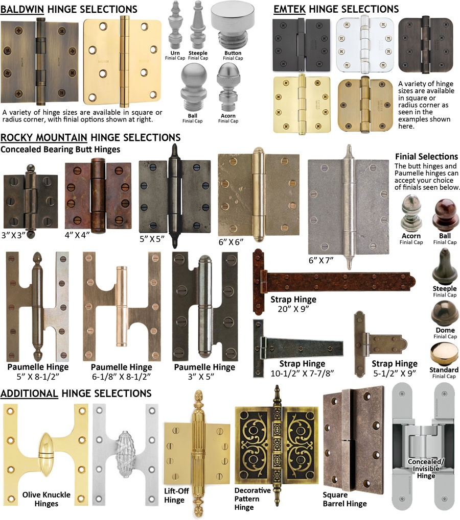 residential hinge collections