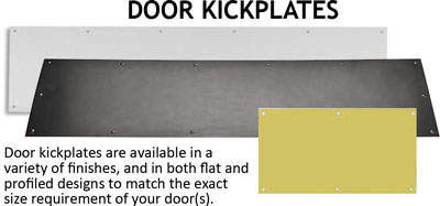 door kickplate choices