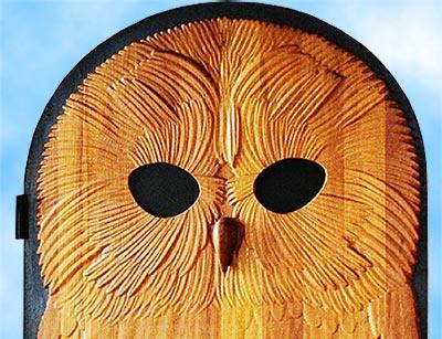 Carved Owl<br>Door