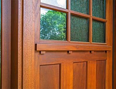 Craftsman Door with Dentil Moulding