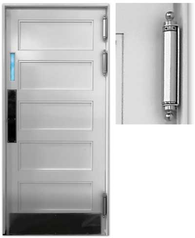 double acting kitchen door