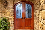 wrought iron grille french door