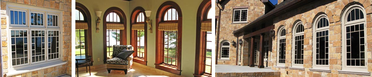 Views of installed casement windows