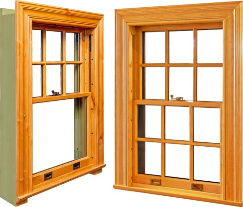 view of two hung windows