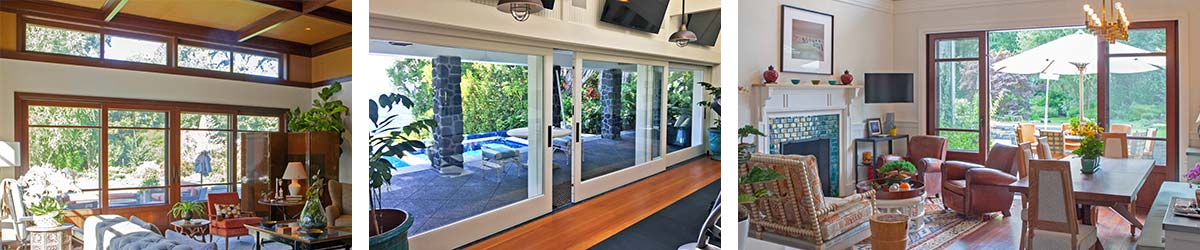 Views of installed lift and slide doors