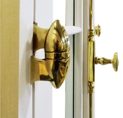 brass hand-crafted olive knuckle door hinge