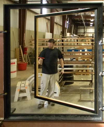 view of oversized casement window