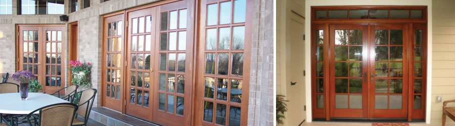 Classic and contemporary design in Patio Door Systems. Parrett builds to  your rail and style dimension - Classic French or Light American. - Patio Parrett Windows & Doors