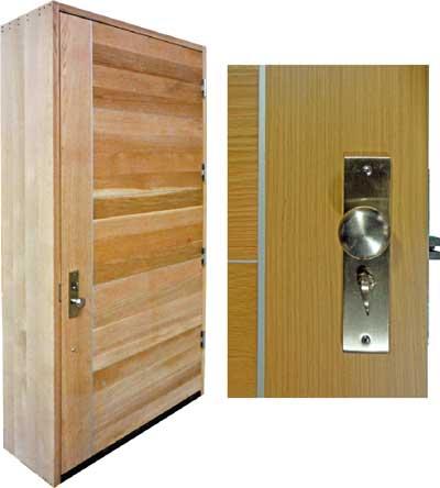 custom metal inlay plank door