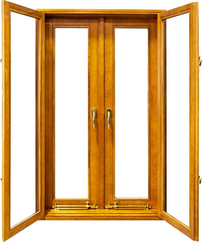 view of a french pushout casement window