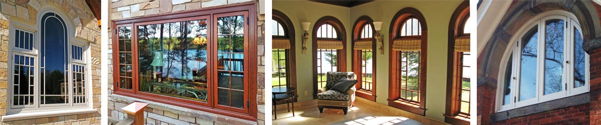 Views of installed casement windows