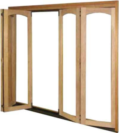 radius archtop bifold door panel