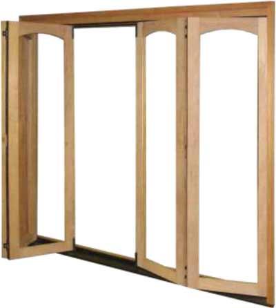 radius archtop bifold door panel