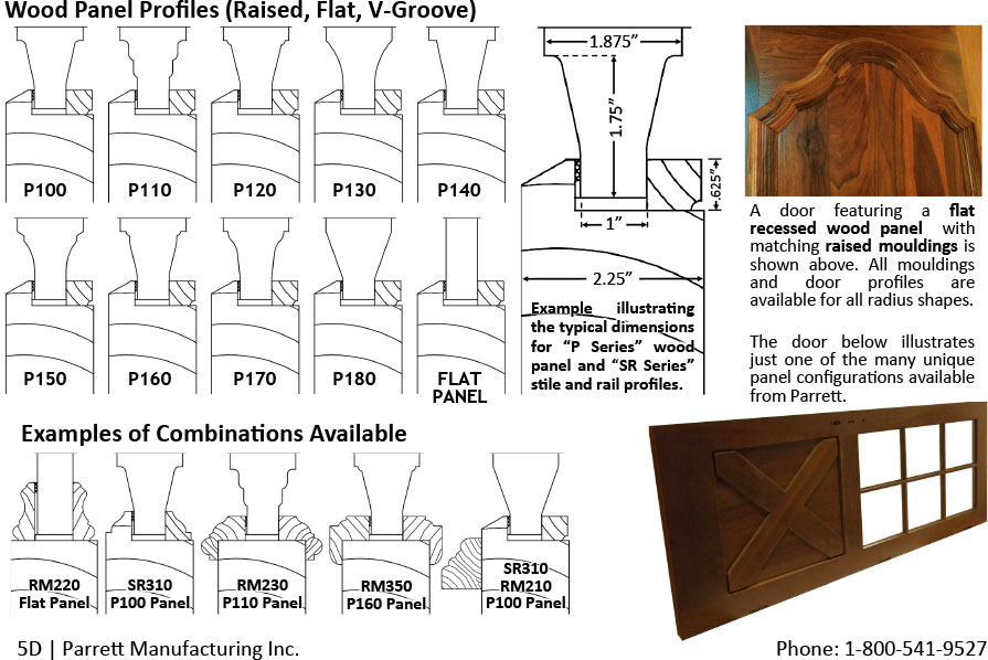 raised panel profiles and raised moulding profile examples