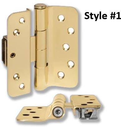 residential brass adjustable hinge