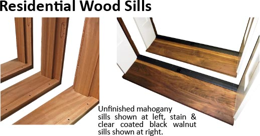 wood residential door sill