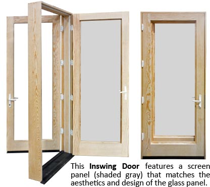 screen panels with multipoint locking hardware