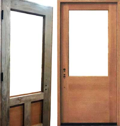 split species door example