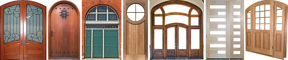 Views of installed swing doors