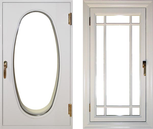 view of a traditional inswing casement window