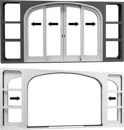 variation 6 radius lift and slide door