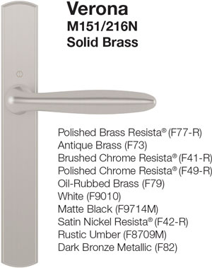multipoint locking handleset styles