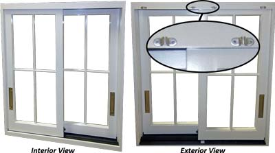 lift and slide window with screens