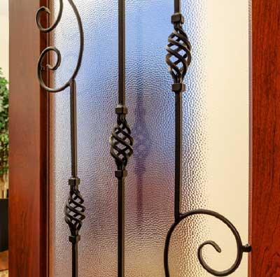 wrought iron metal grille